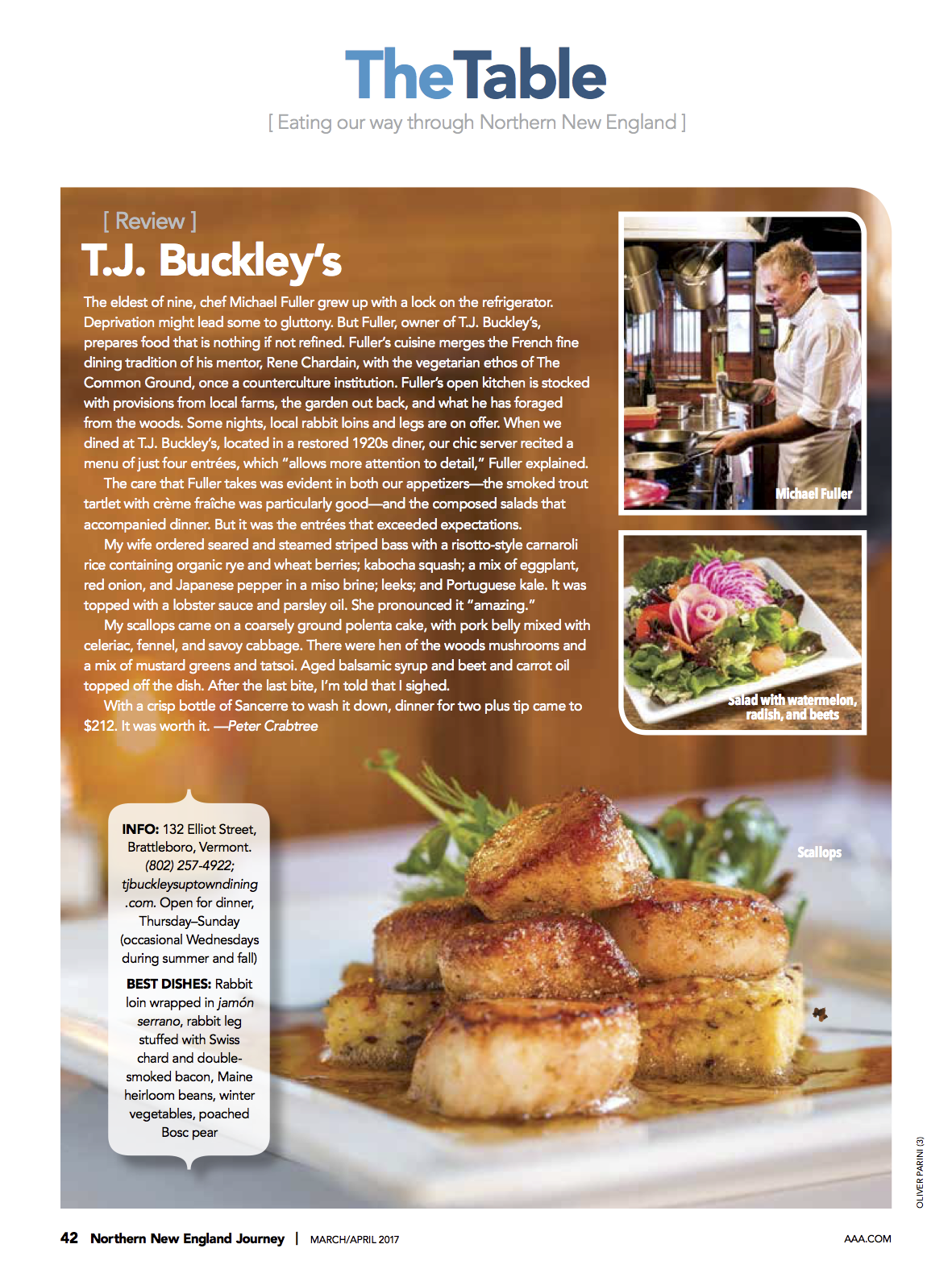 T J Buckley S Uptown Dining World Class Food And Service